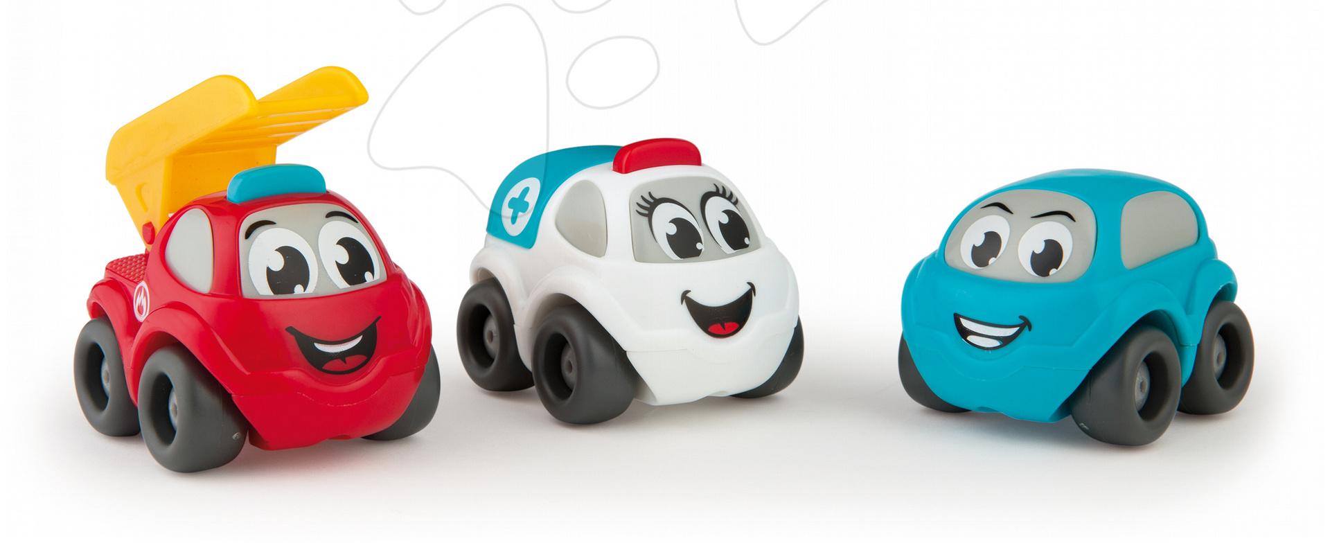 Záchranářské autíčka pro děti Vroom Planet Smoby 3 ks délka 7 cm od 12 měsíců