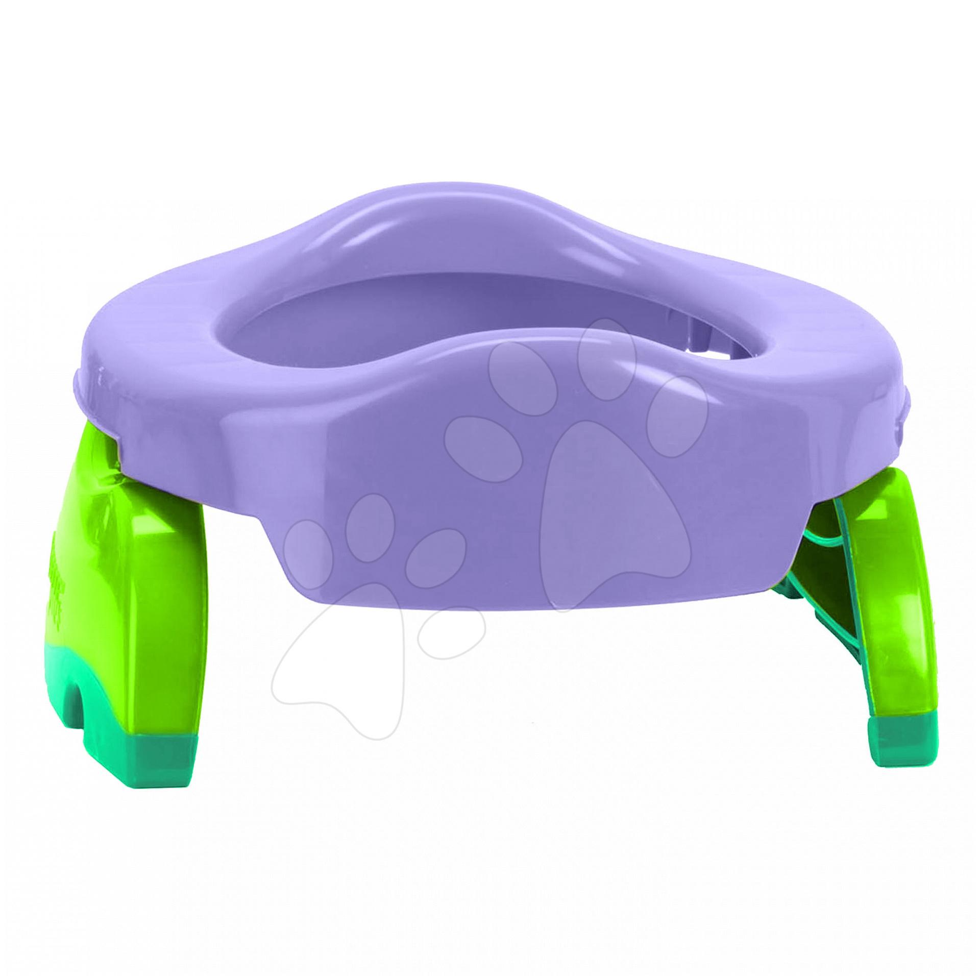Cestovní nočník/redukce na WC Potette Plus fialovo-zelený od 15 měsíců