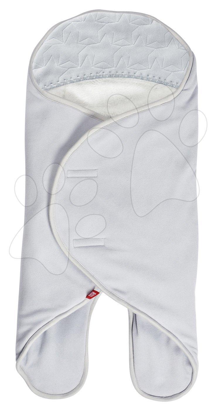 Zavinovačka Babynomade® Coral Fleece Red Castle 0-6 mesiacov dvojvrstvový fleece extra teplá šedá