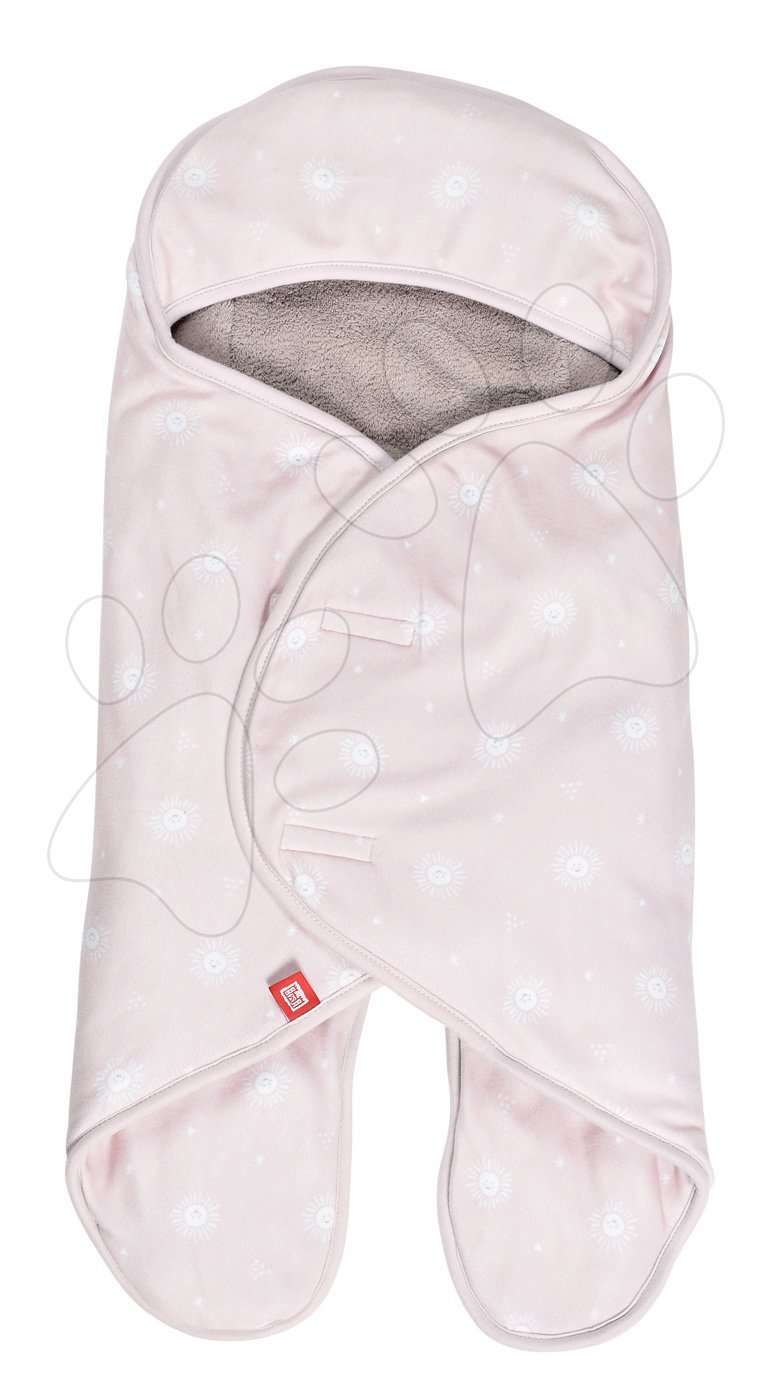 Zavinovačka Babynomade® Coral Fleece Miss Sunday Red Castle 0-6 měsíců dvouvrstvý fleece extra teplá