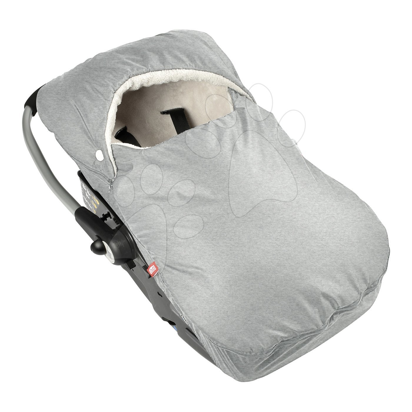 Fusak do autosedačky Red Castle od 0-12 mesiacov extra teplý pohodlný vzdušný nepremokavý šedý