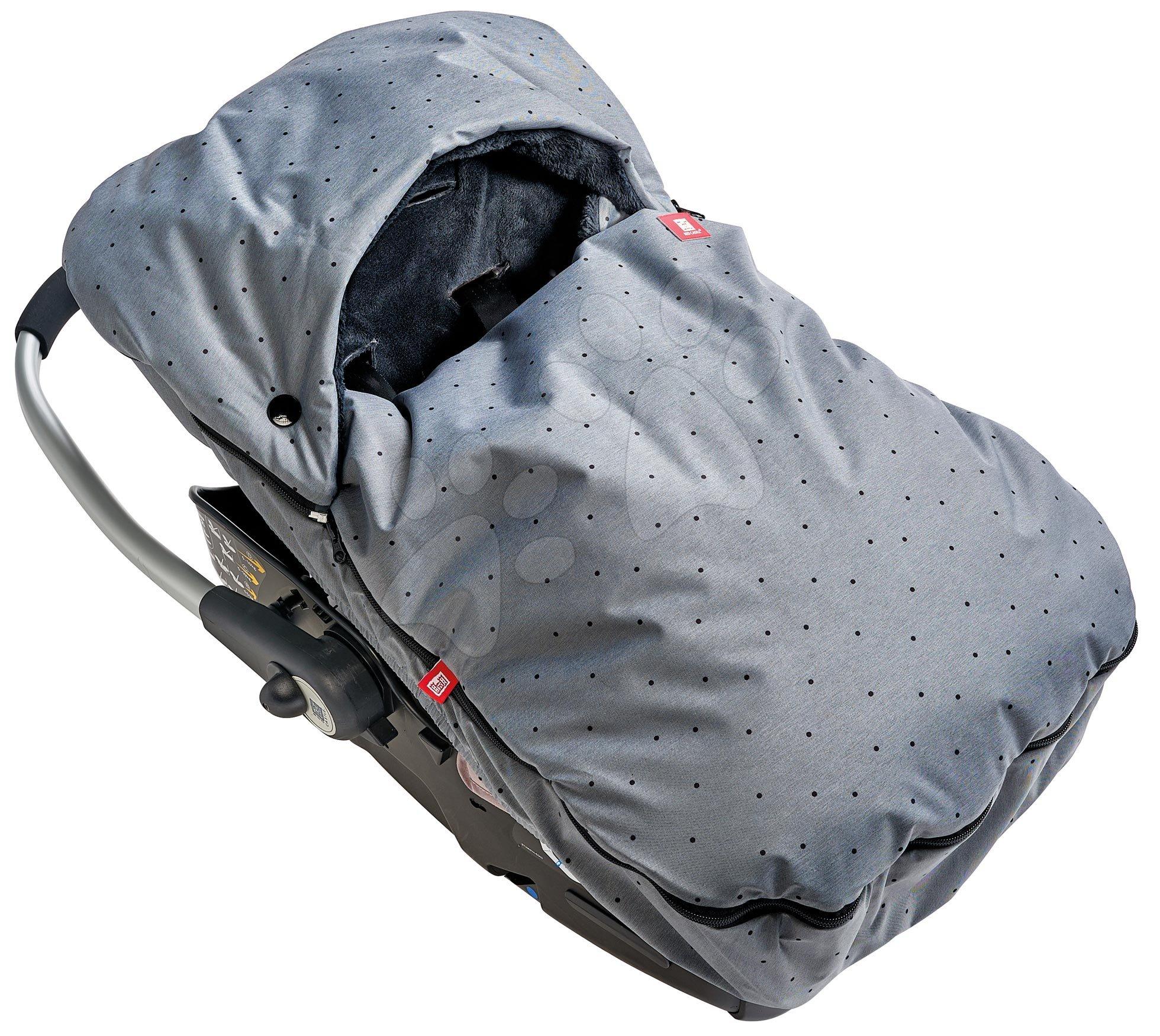 Fusaky - Fusak do autosedačky Red Castle extra teplý pohodlný vzdušný vodeodolný šedý bodkovaný 0-12 mesiacov
