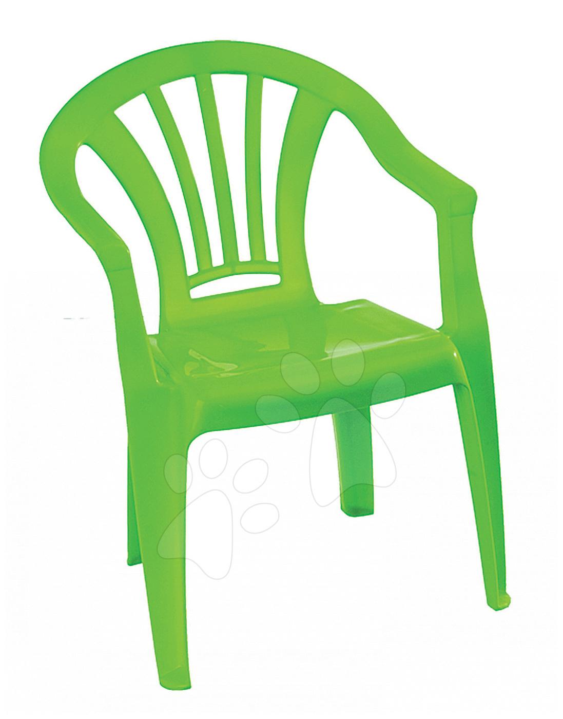 Detský záhradný nábytok - Stolička Starplast s opierkou zelená