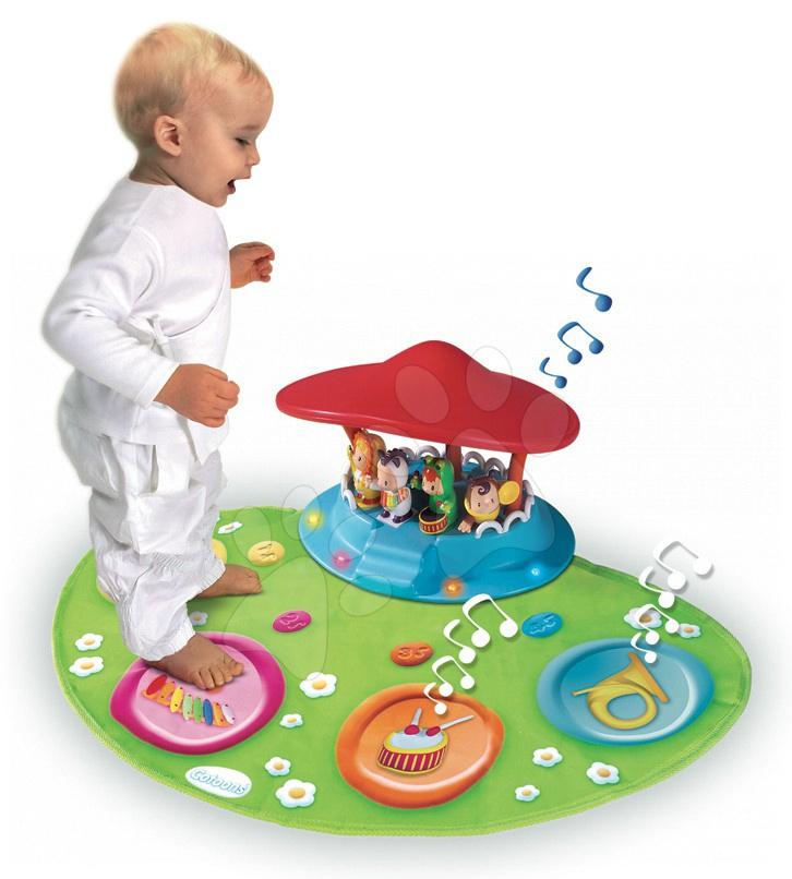 Staré položky - Cotoons hudobný koberček Smoby so svetlom hudbou a figúrkami s orchestrom od 12 mes