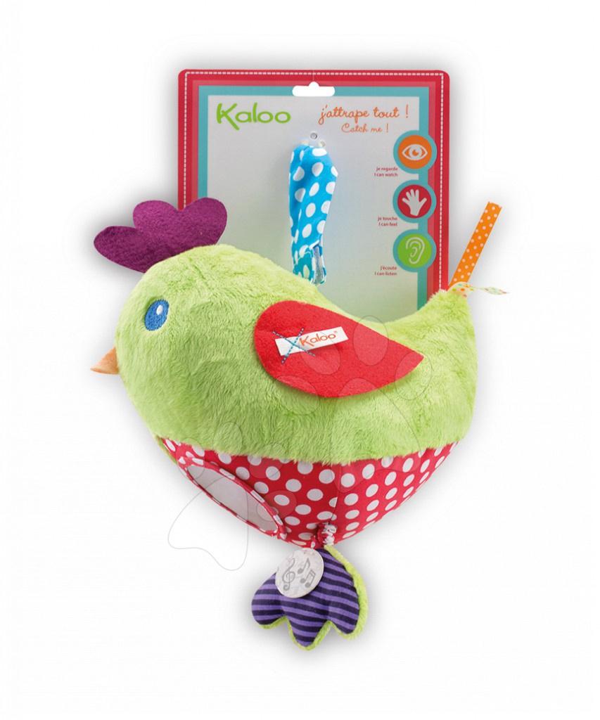 Hračky nad postieľku - Plyšové kuriatko Colors-My Activity Chick Kaloo vibrujúce s hrkálkou a hryzátkom 30 cm pre najmenších