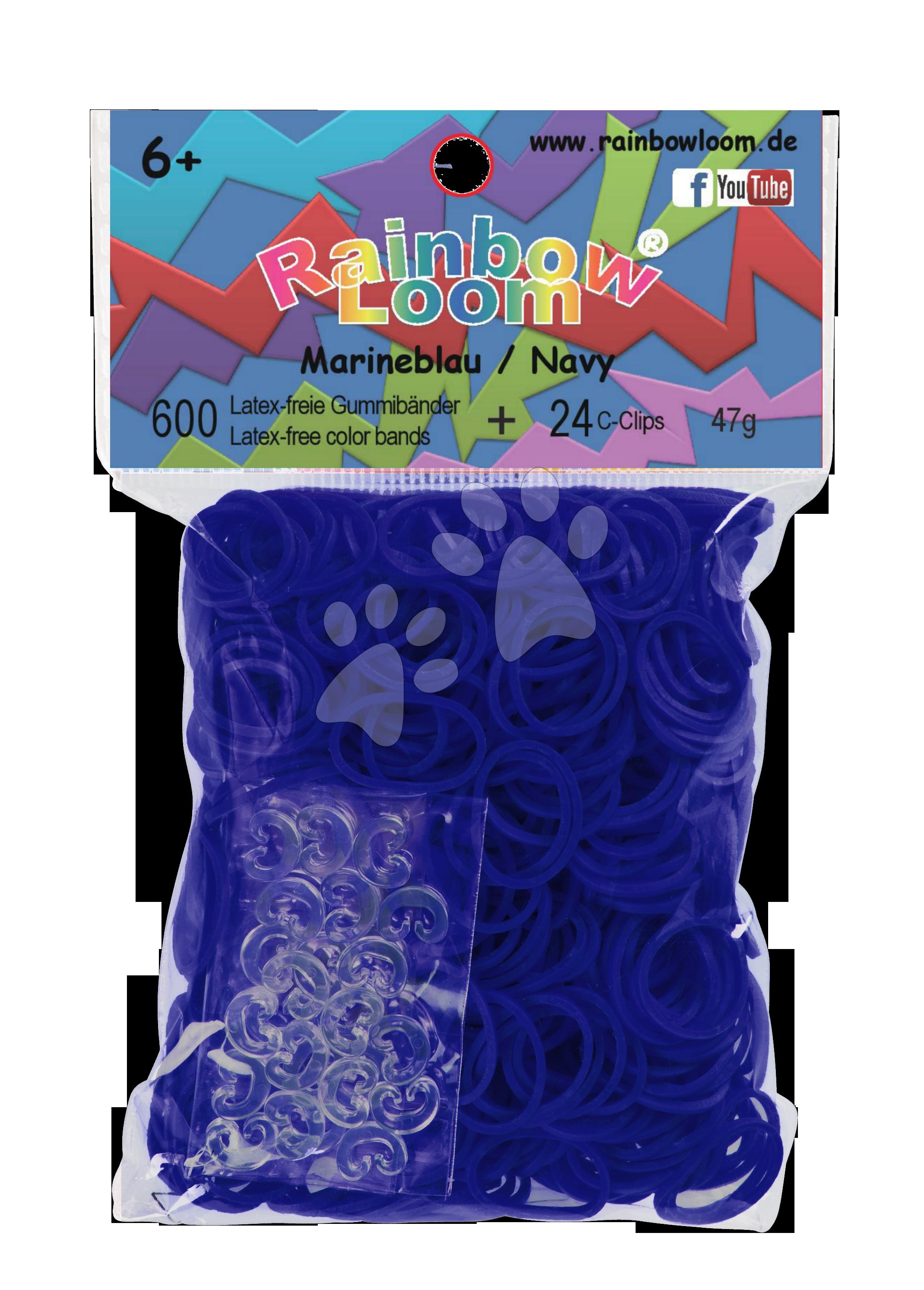 Rainbow Loom originální transparentní gumičky 600 kusů modré od 6 let