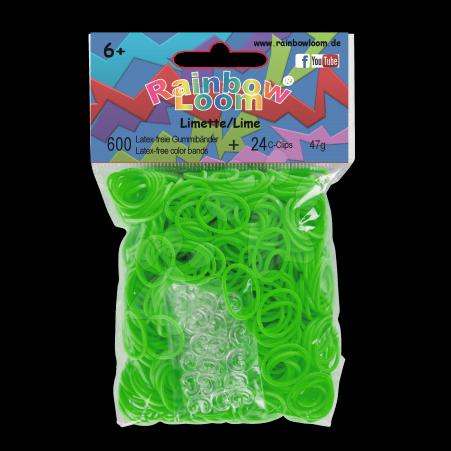 Rainbow Loom originální transparentní gumičky 600 kusů světle zelené od 6 let
