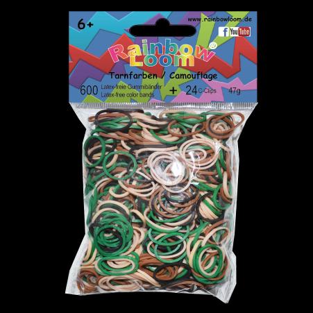 Rainbow Loom gumičky mix - Rainbow Loom originálne gumičky maskáčový mix svetlý 600 kusov od 6 rokov
