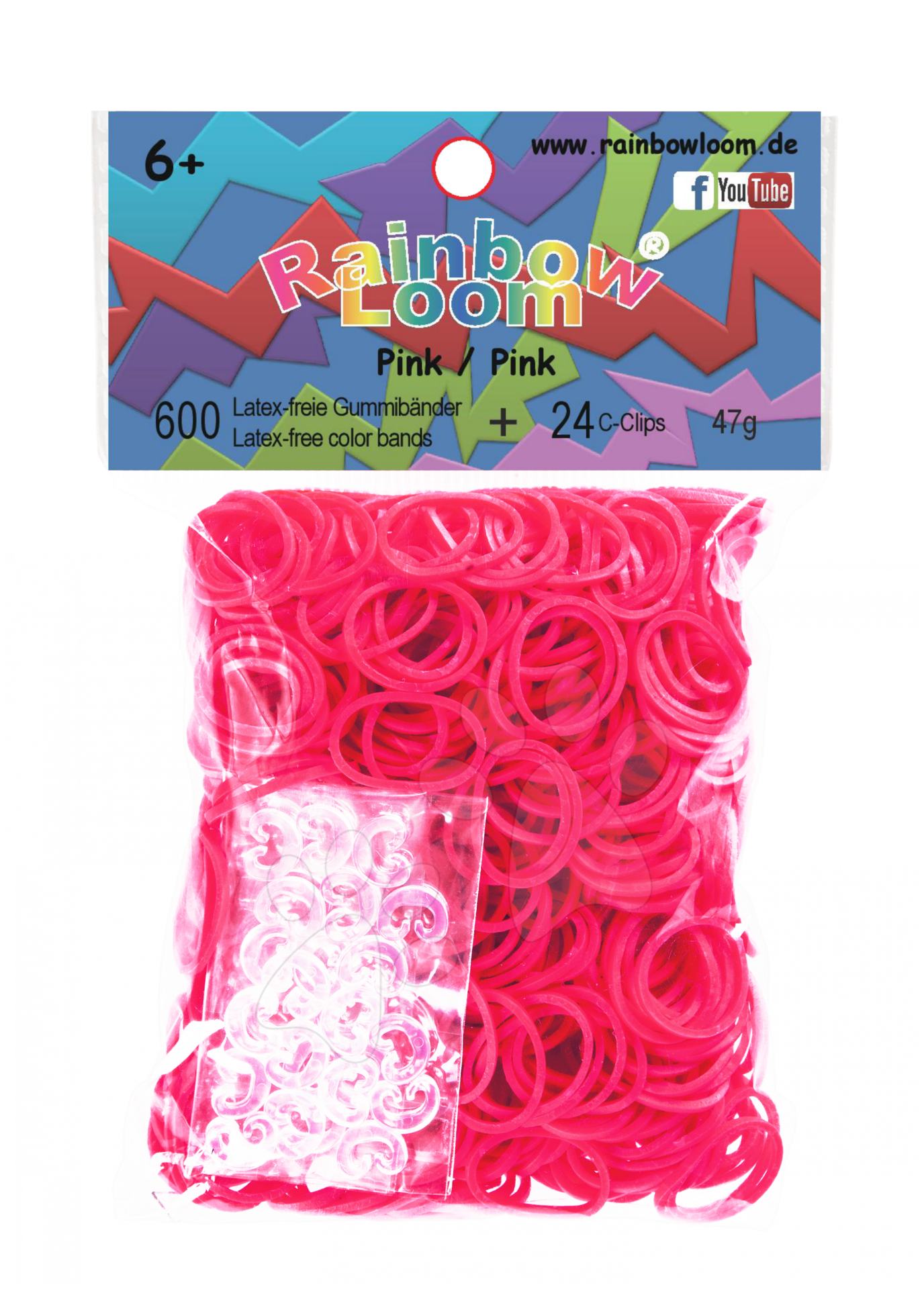 Rainbow Loom originální gumičky 600 kusů růžové od 6 let