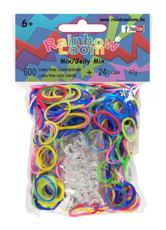 Rainbow Loom originální gumičky transparentní mix 600 kusů od 6 let