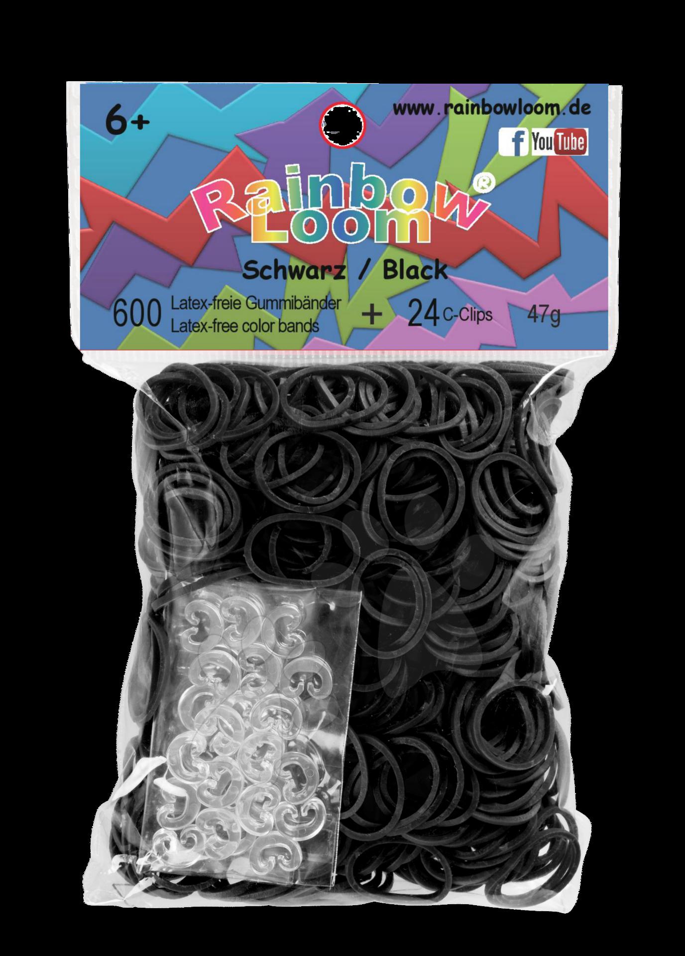 Rainbow Loom gumičky plné - Rainbow Loom originálne gumičky 600 kusov čierne od 6 rokov