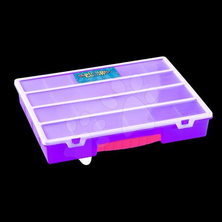 Rainbow Loom príslušenstvo - Plastový organizér Rainbow Loom fialový