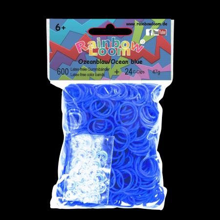 Rainbow Loom originální gumičky 600 kusů oceánovomodré