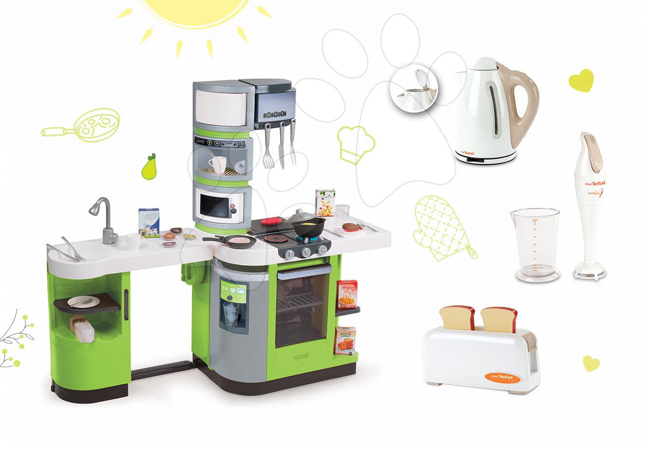 Set kuchyňka pro děti CookMaster Verte s ledem a zvuky a 3 kuchyňské spotřebiče