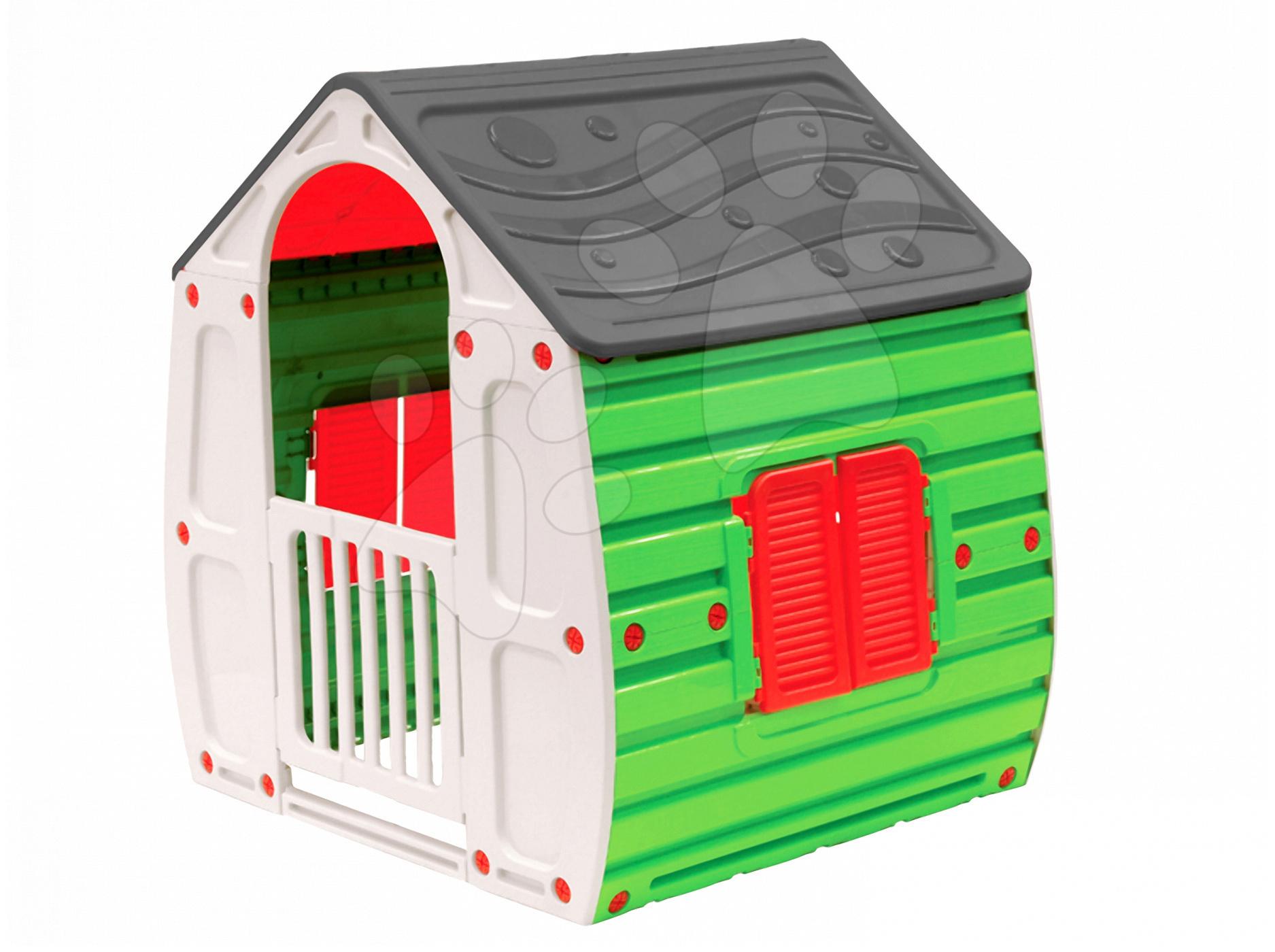 Domčeky pre deti - Domček New Fairy House Starplast zeleno-sivý od 24 mes