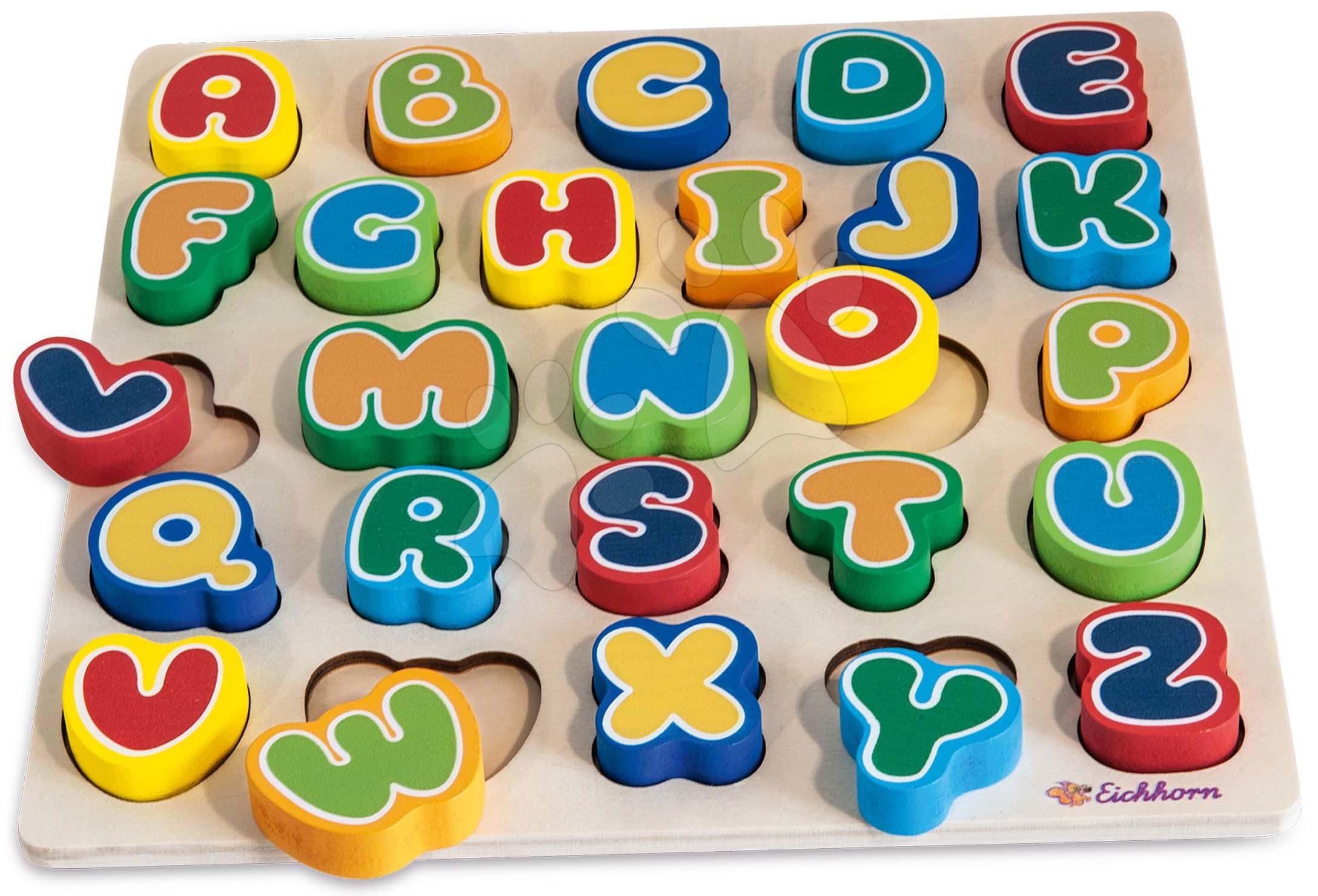 Drevené písmenká Letters Eichhorn 26 farebných písmenok od 12 mes