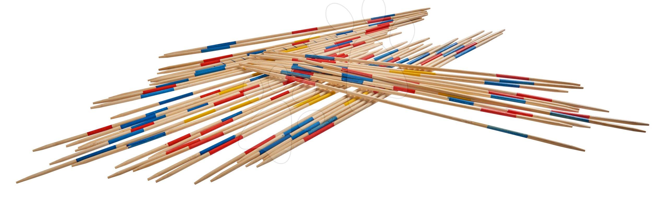 Spoločenské hry pre deti - Drevené mikádo Outdoor Eichhorn farebný bambus 41 paličiek 50 cm dlhé