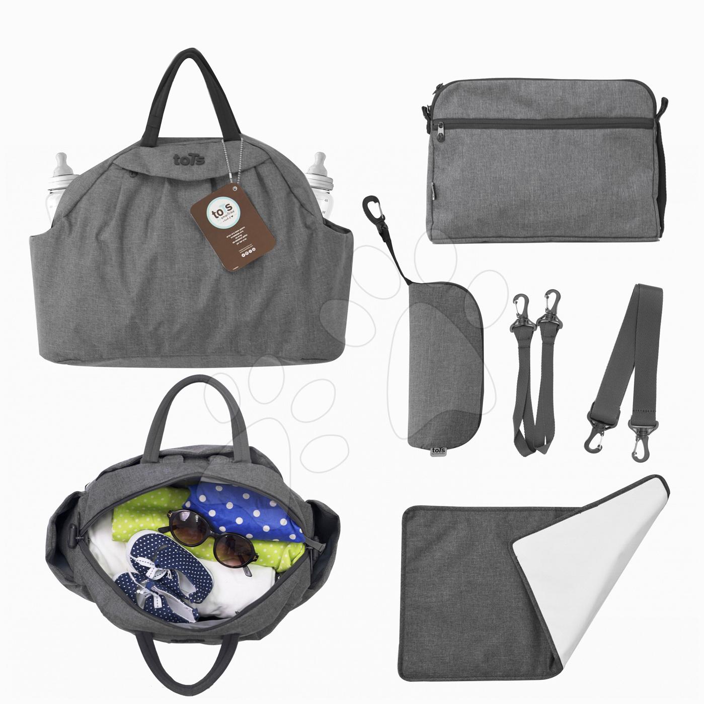 Přebalovací taška Chic 5v1 toTs-smarTrike s vnitřní taškou a termoobalem na láhev šedá