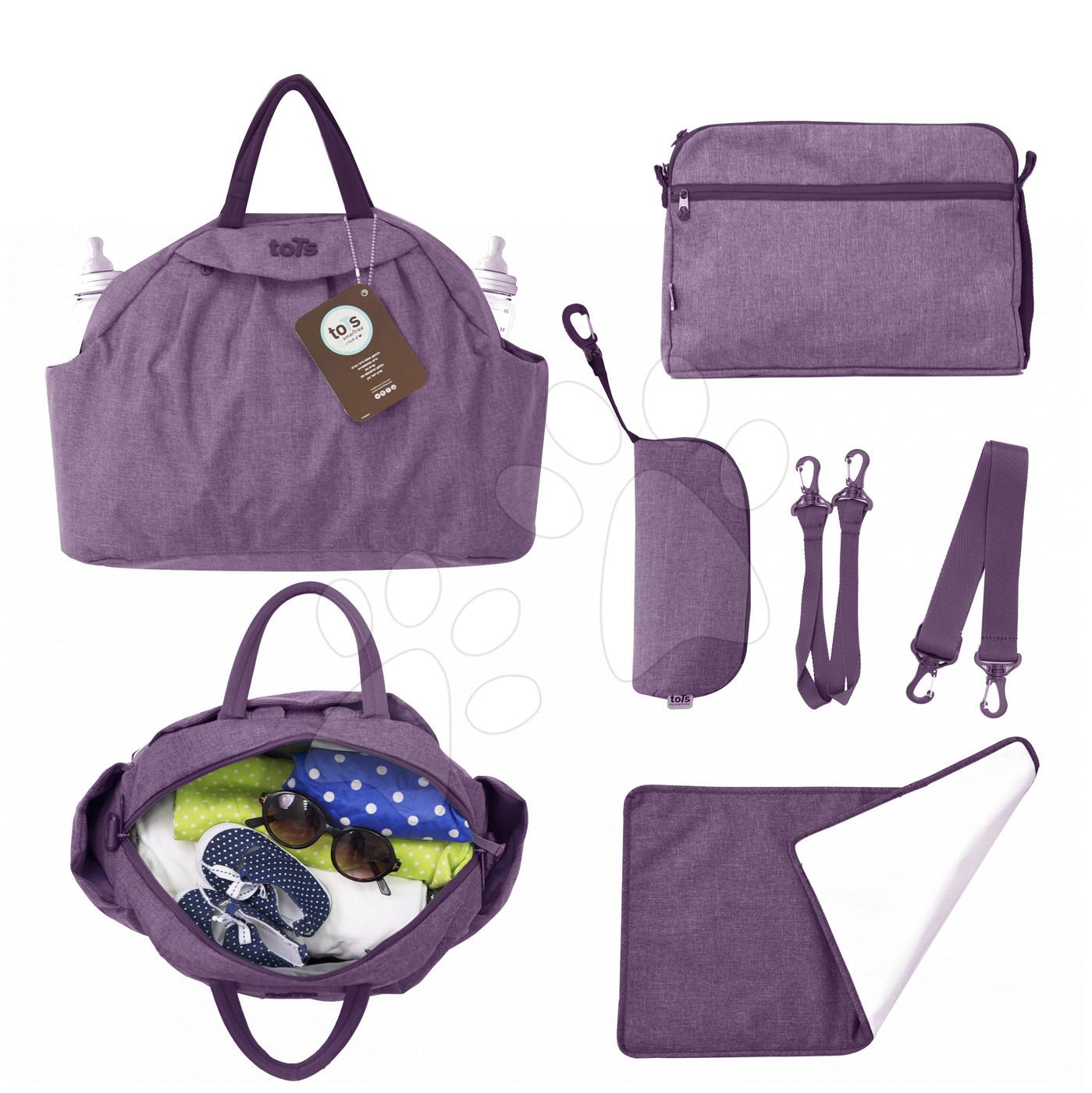 Prebaľovacia taška Chic 5v1 toTs-smarTrike s vnútornou taškou a termoobalom na fľašu fialová