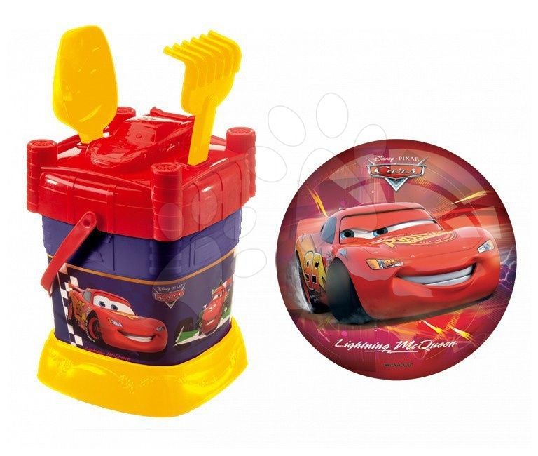 Kbelík set Cars Mondo s 23 cm míčem v tašce