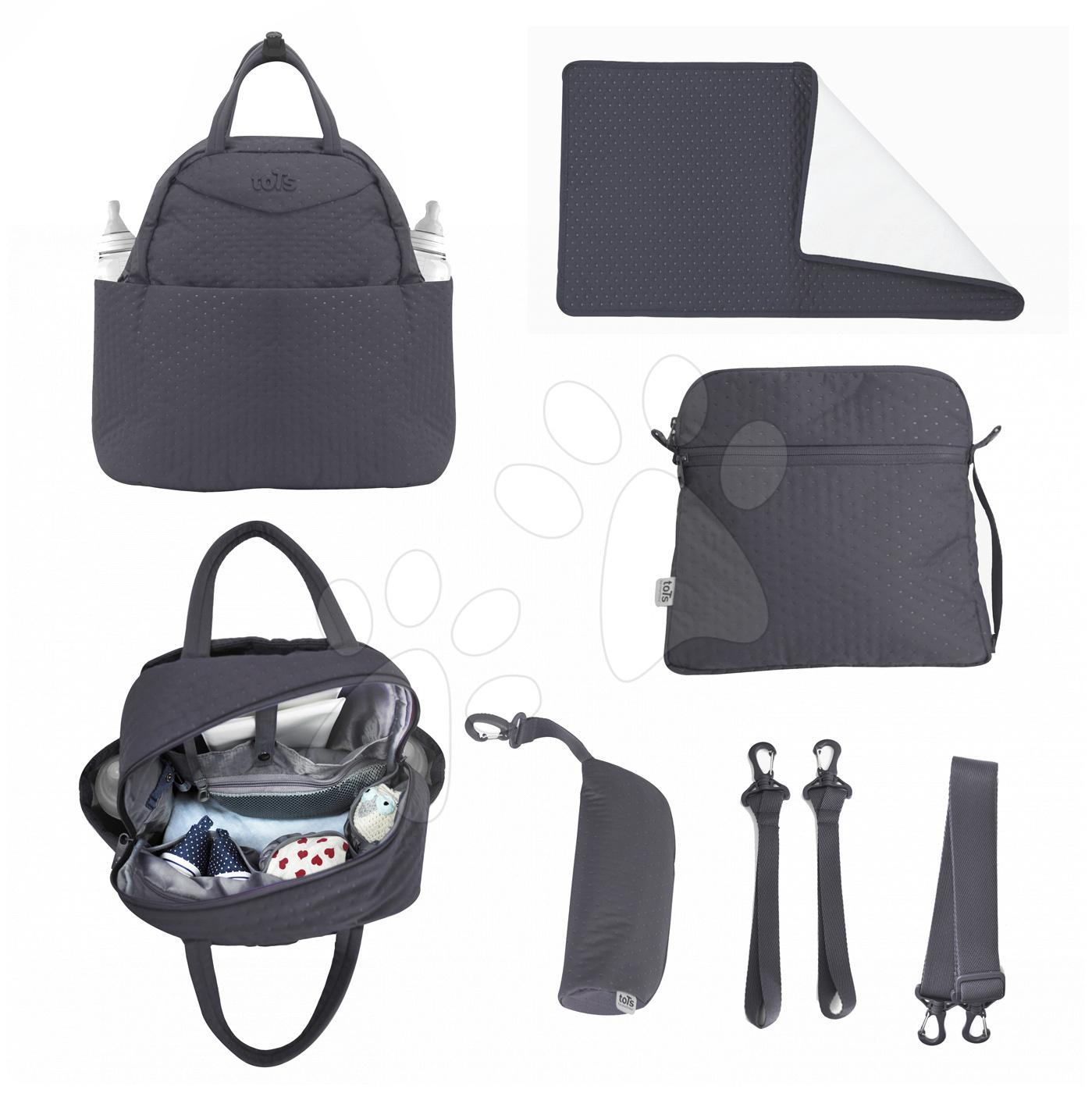 Prebaľovacia taška Infinity 5v1 toTs-smarTrike s vnútornou taškou a termoobalom na fľašu šedá