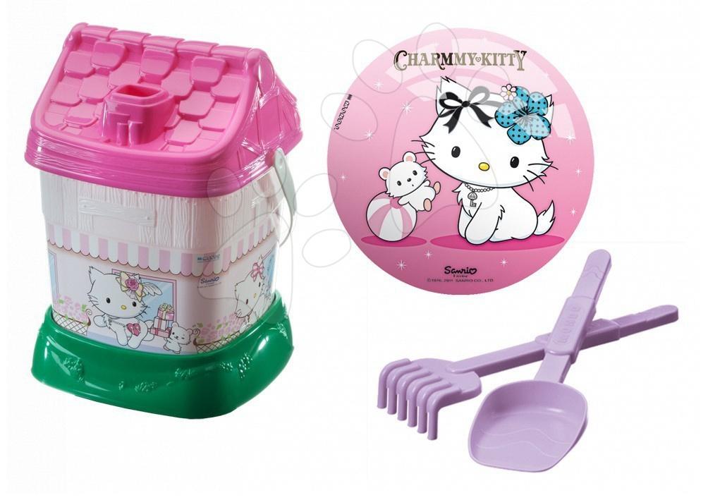 Kbelík set Hello Kitty Mondo s 23 cm míčem v tašce