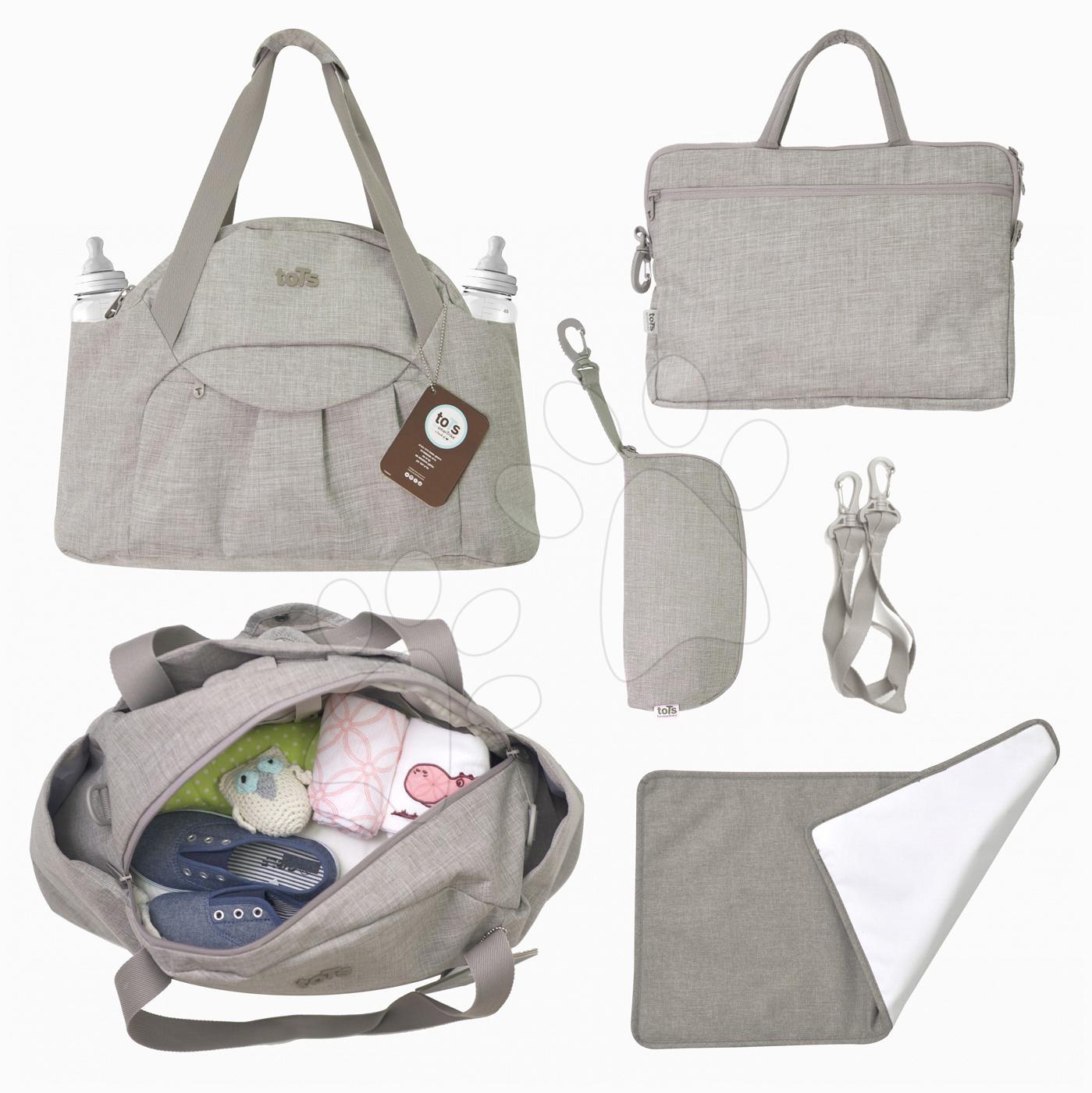 Previjalna torba Voyage 4v1 toTs-smarTrike z notranjo torbico in termo ovitkom za steklenico bež