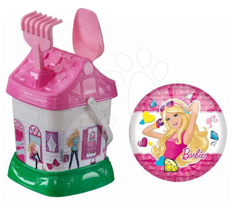 Kbelík set Barbie Mondo s 23 cm míčem v tašce