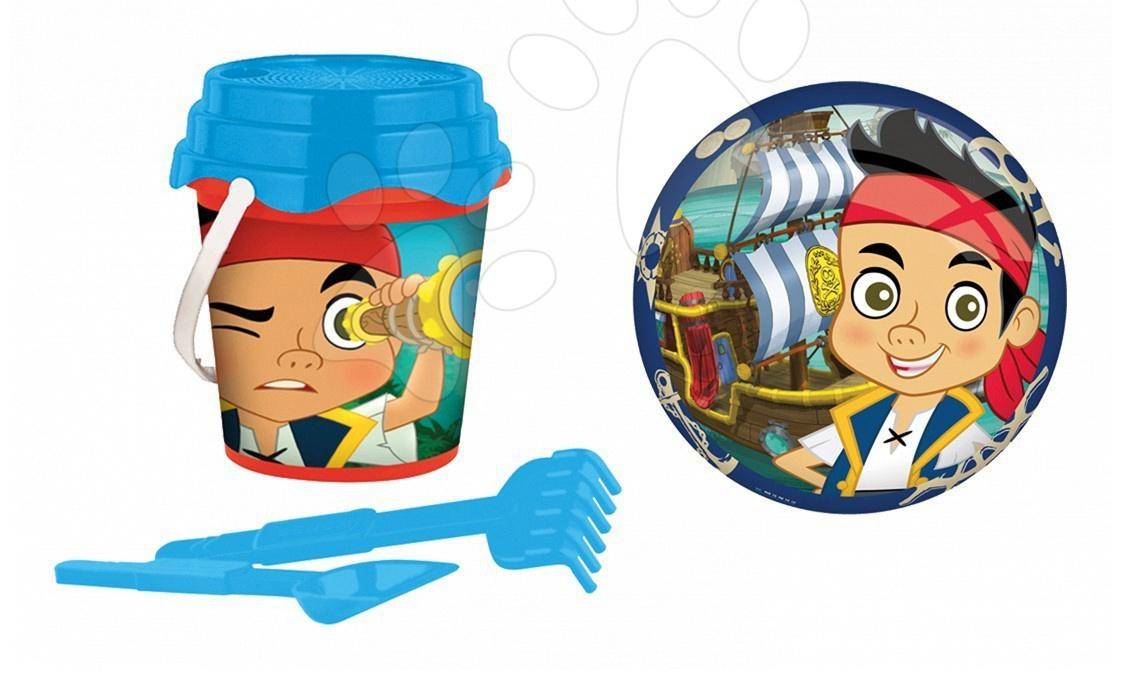 Staré položky - Vedro set Jake and The Never Land Pirates Mondo s 23 cm loptou v taške