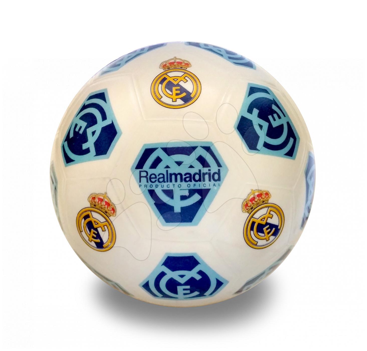 Mingi sport - Minge de fotbal Real Madrid Unice 22 cm cauciuc gros