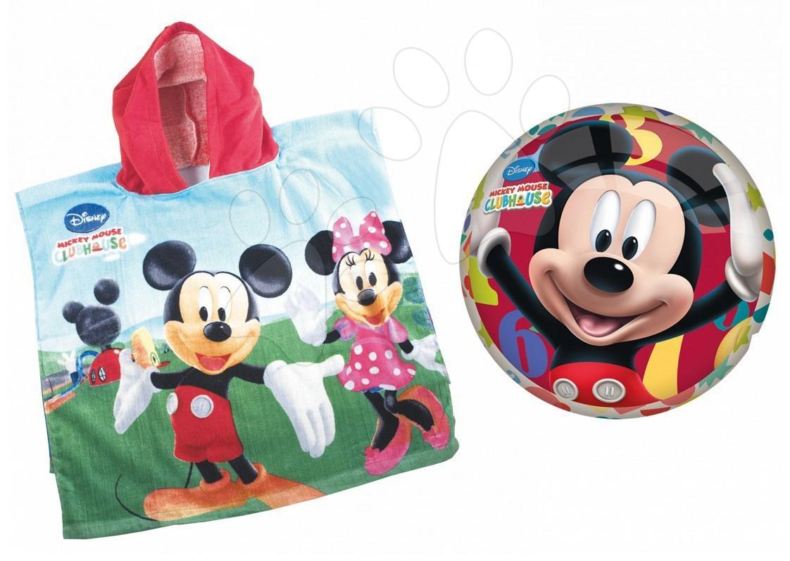 Staré položky - Poncho set Mickey Mondo s 23 cm loptou v batohu