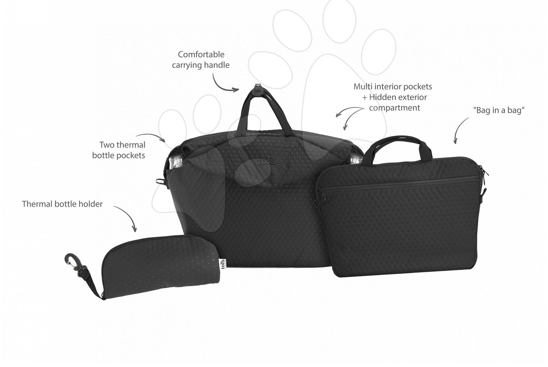 Previjalna torba toTs-smarTrike Duet Extra 4v1 z notranjo torbo in termo ovitkom za steklenico črna