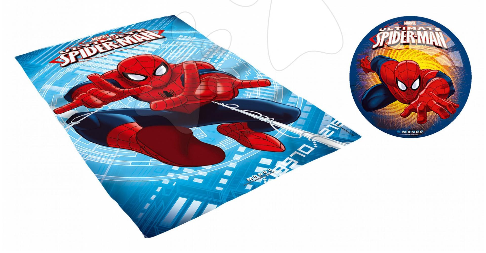 Pončo sety - Súprava osuška a lopta Spiderman Mondo v batohu