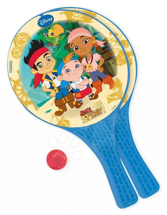 Staré položky - Plážový tenis set Jake a Piráti z Krajiny Nekrajiny Mondo s 2 raketami a loptičkou