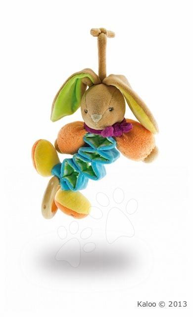 Hračky nad postieľku - Plyšový zajačik Colors-Mini Zig Music Rabbit Kaloo spievajúci naťahujúci 20 cm v darčekovom balení pre najmenších