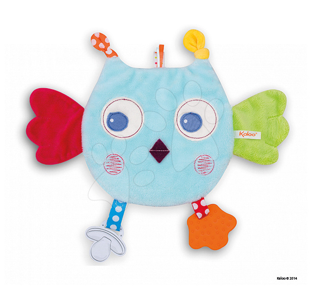 Plyšová sova Colors-My Sweet Doudou Owl Kaloo s kousátkem 25 cm pro nejmenší