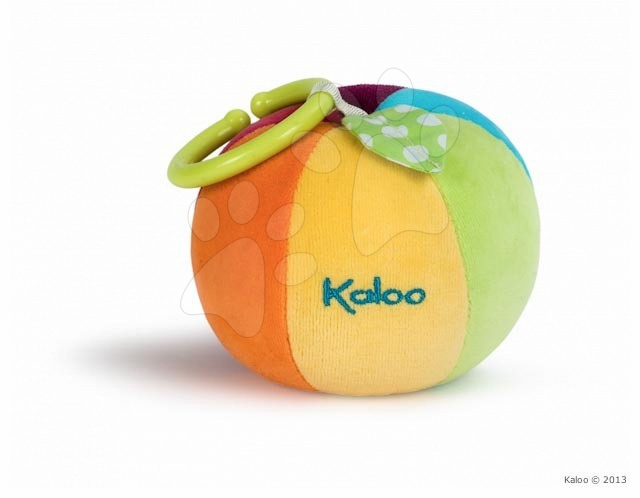 Hračky nad postieľku - Plyšová loptička Colors-Activity Kaloo 13 cm pre najmenších
