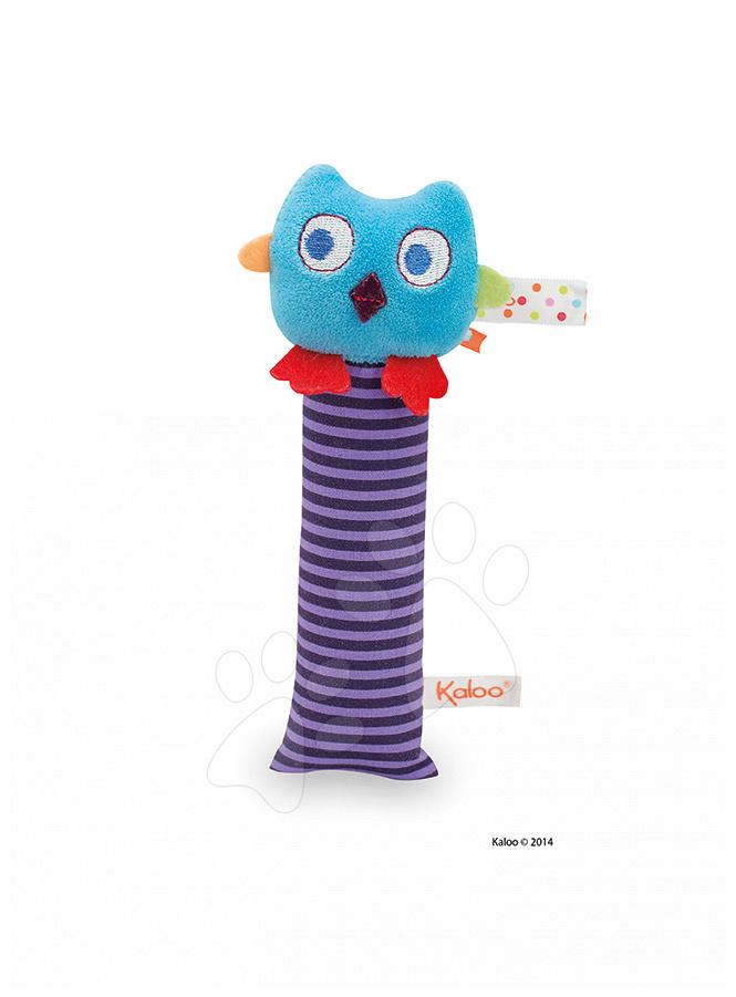 Hrkálky a hryzátka - Plyšová hrkálka sovička Colors-Activity Owl Kaloo 19 cm pre najmenších