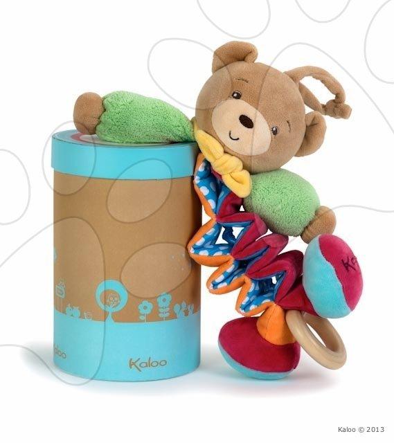 Hračky nad postieľku - Plyšový medvedík Colors-Zig Music Bear Kaloo spievajúci naťahujúci 25-40 cm v darčekovom balení pre najmenších