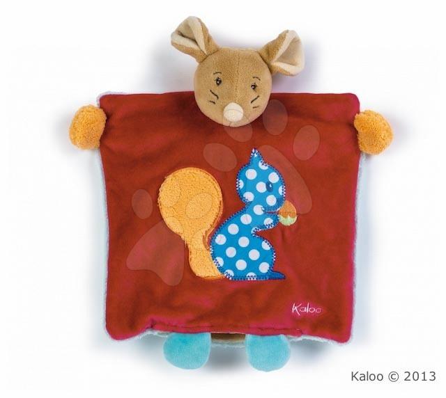 Plyšová myška loutkové divadlo Colors-Doudou Puppet Mouse Squirrel Kaloo 20 cm v dárkovém balení pro nejmenší