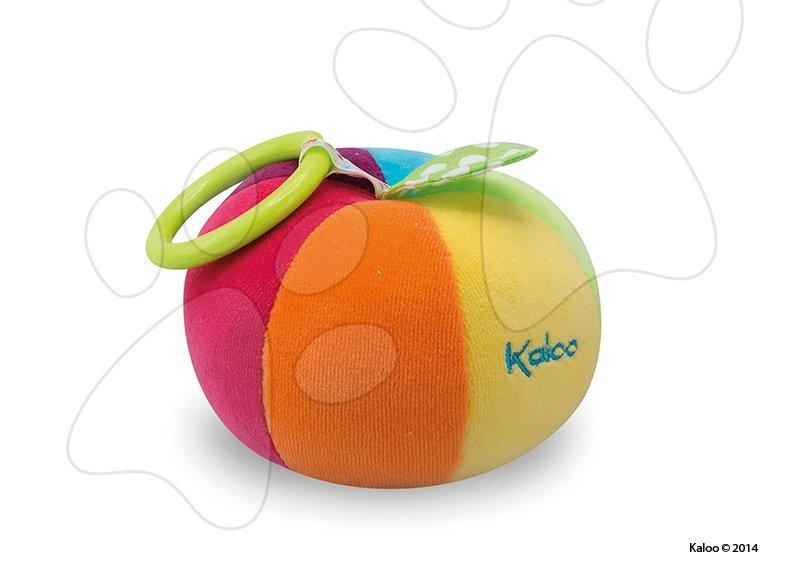 Hračky nad postieľku - Plyšová loptička Colors-Activity Ball Kaloo mäkká 13 cm pre najmenších