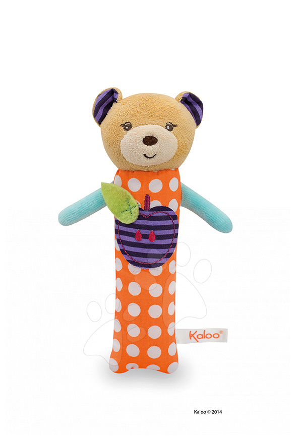 Hrkálky a hryzátka - Plyšová hrkálka medvedík Colors-Activity Bear Kaloo 19 cm pre najmenších