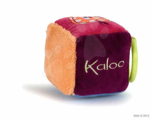 Hračky nad postieľku - Plyšová kocka Colors-Activity Kaloo 13 cm pre najmenších