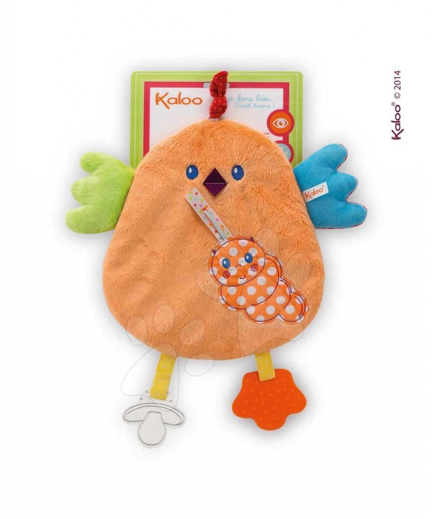 Plyšové kuřátko Colors-My Sweet Doudou Chick Kaloo s kousátkem 25 cm pro nejmenší