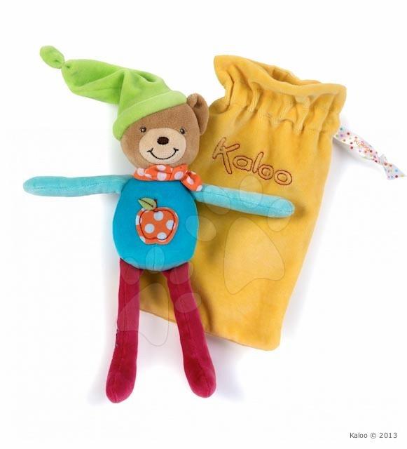 Plyšový medvídek na mazlení Colors-Baby Doudou Pocket Kaloo v sáčku 20 cm pro nejmenší