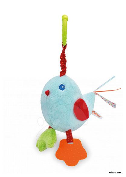Plyšový ptáček Colors-My Swinging Bird Kaloo vibrující s chrastítkem a kousátkem 25 cm pro nejmenší