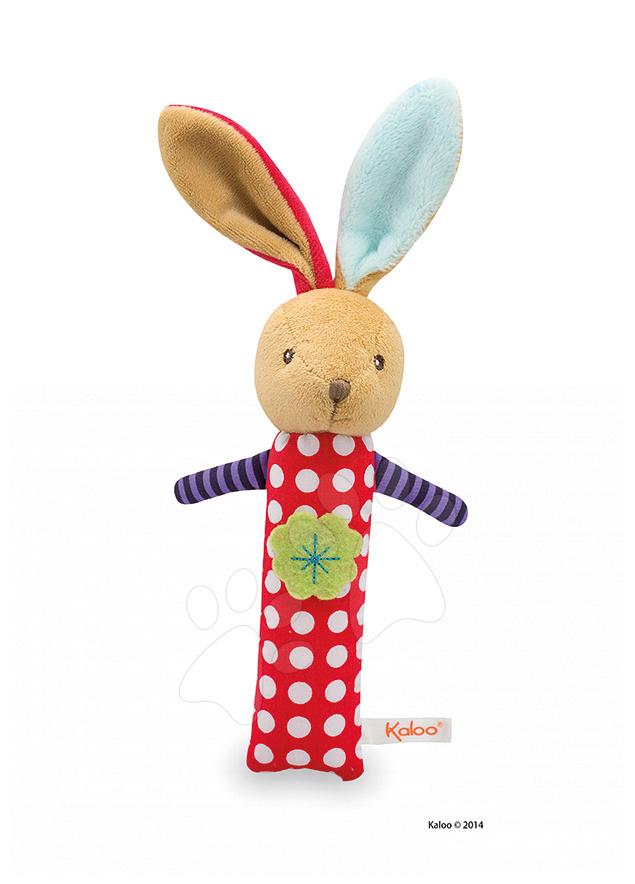 Plyšové chrastítko zajíček Colors-Activity Rabbit Kaloo 19 cm pro nejmenší