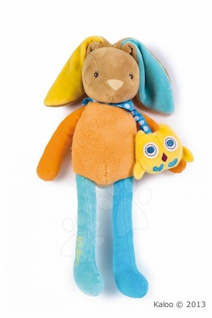 Hračky pre bábätká - Spievajúci plyšový zajačik Colors-Musical Baby Doudou Rabbit Kaloo 37 cm v darčekovom balení pre najmenších