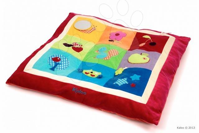 Hrázdičky a hracie podložky  - Hracia deka Colors-Activity Cushion Kaloo s hrkálkou a zrkadlom v darčekovom balení pre najmenších