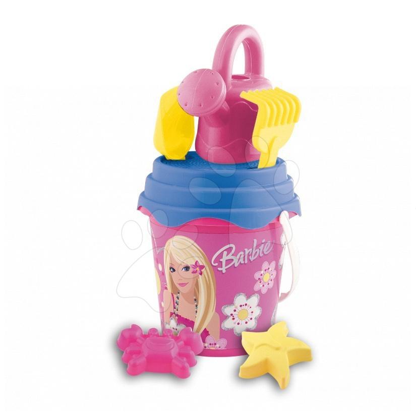 Kbelíky do písku - Kbelík set s konví Barbie Mondo 7 dílů (výška kbelíku 17 cm)